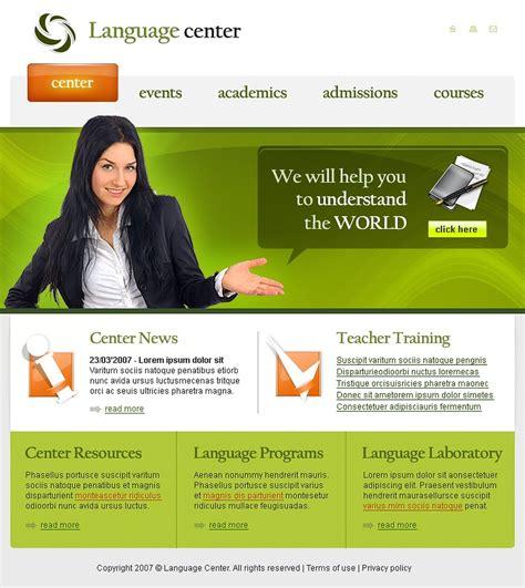 templating language language school website template 15604