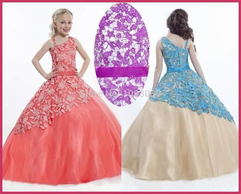 design your flower girl dress special design lace flower girl dress for weddings ball