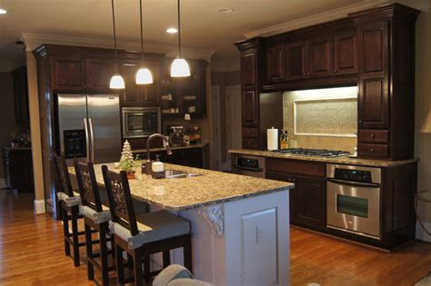 How To Restain Kitchen Cabinets Darker Creative Cabinets And Faux Finishes Llc Traditional Kitchen Atlanta By Creative