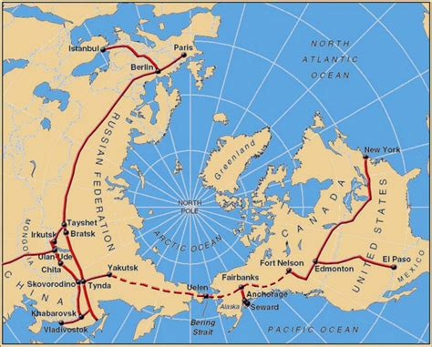 russia maps view interbering pole view to the transcontinental