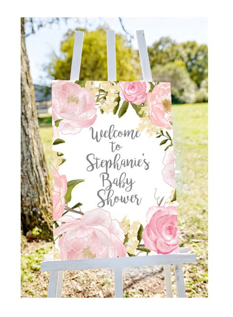 baby shower welcome sign welcome to baby shower sign pastel