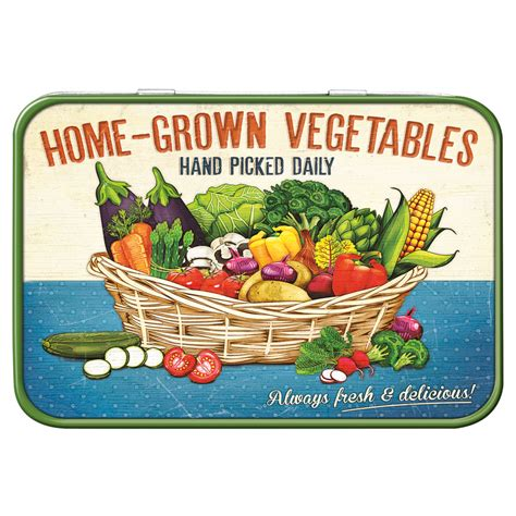 lemon ltd home grown vegetables keepsake tin