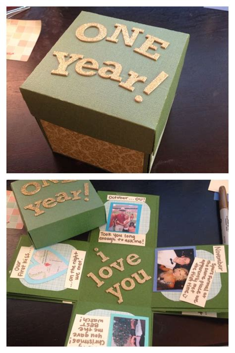 One Year Gifts For Easy by Did The Exploding Box For My One Year Anniversary With My