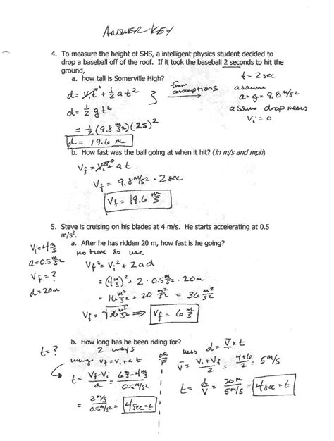 Distance And Displacement Worksheet Pdf With Answers