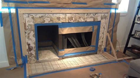 concrete fireplace surround  simple steps youtube