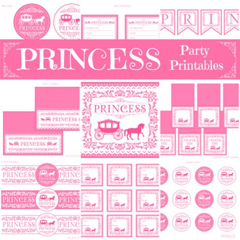 Printable Princess Party Decorations | 5 95 today eleven princess birthday printable party