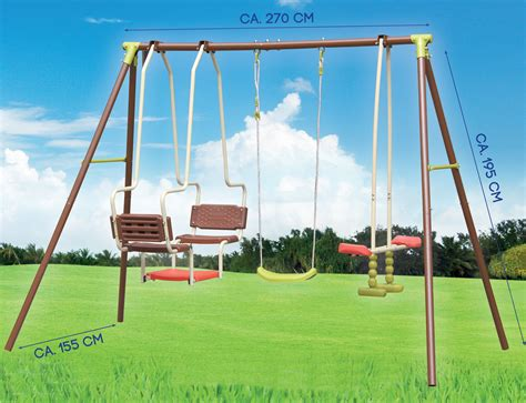 playset glider swing outdoor garden swing seesaw glider set fun leisure gondola