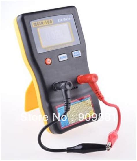 how to check electrolytic capacitor with multimeter autoranging esr electrolytic capacitor low ohm meter electronic capacitive resistance tester 0
