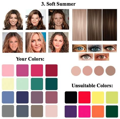 summer season colors soft summer color type intermediate between the color