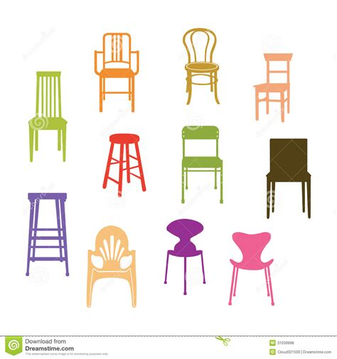 Chair Illustration by Chair Set Royalty Free Stock Photos Image 31039998