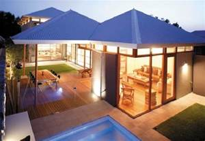 Modern Home Design Outdoor by Contemporary House Design With Flow Between Indoors And