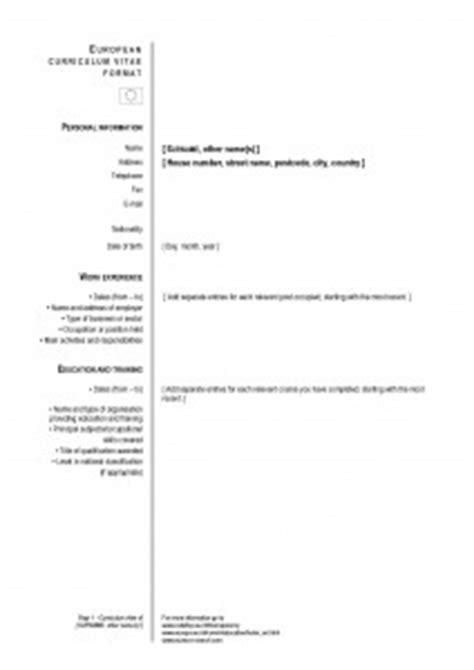 Plantilla Curriculum Europeo En Word Modelos De Cv El Curr 237 Culum Europeo Modelo Curriculum