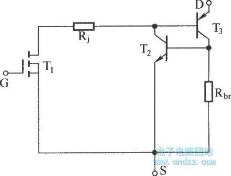 igbt transistor basics igbt equivalent circuit with parasitic transistor basic circuit circuit diagram seekic
