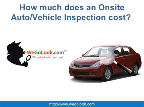 how much does an onsite auto vehicle inspection cost