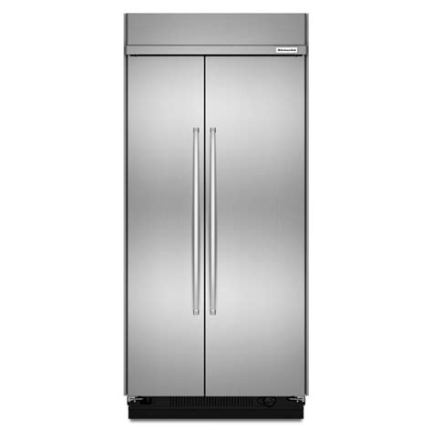 kitchenaid cabinet depth refrigerator shop kitchenaid 25 5 cu ft counter depth built in side by