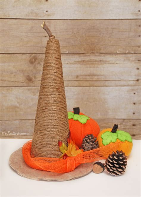 witch hat crafts for rustic witch hat tutorial onecreativemommy