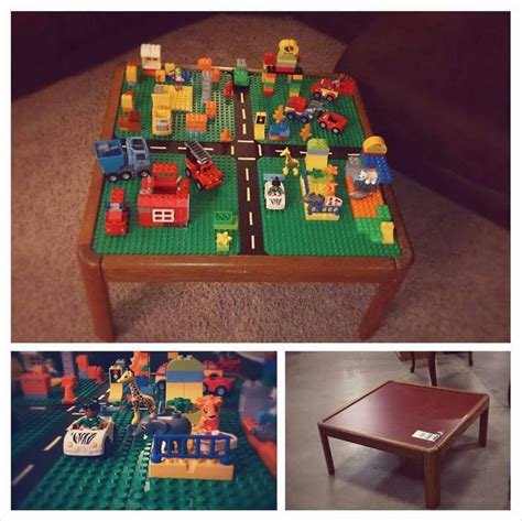 i built a one of a multilevel lego table for my