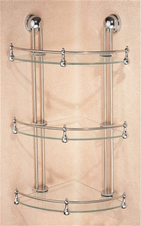 3 tier glass shelf bathroom 3 tier corner bathroom glass shelf e250ta in ningbo