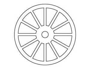 Wheel And Spoke Outline wheel pattern use the printable outline for crafts