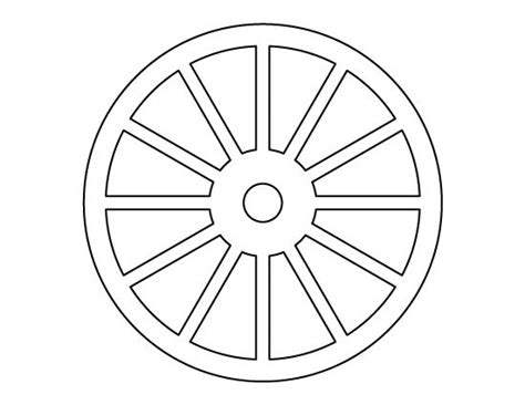 wheel template wheel pattern use the printable outline for crafts