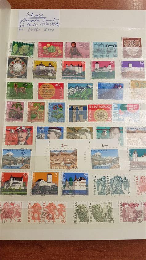 Brief Schweiz Nach Liechtenstein Schweiz Sammlung 1976 2000 Kpl Dazu Liechtenstein 1980 2006 Fast Kpl Gestempelt 183 Tilman Dohren