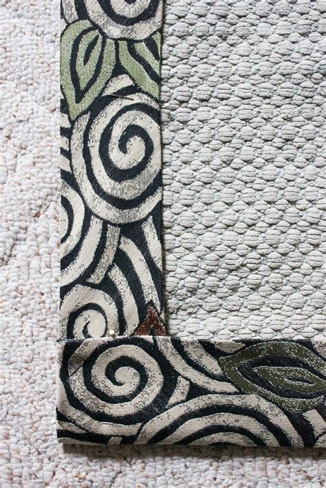 using iron on rug binding recycle an rug with new binding goodwill industries