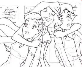 totally spies coloring pages coloring