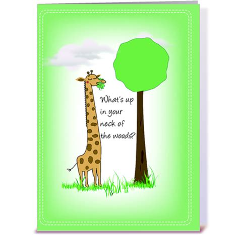 giraffe hello greeting card by designs card gnome