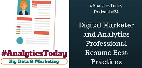 Resume Best Practices by Digital Marketer And Analytics Professional Resume Best