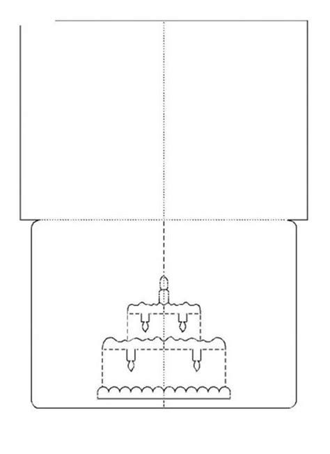 3d birthday cake card template diy 3d kirigami pop up greeting cards free templates