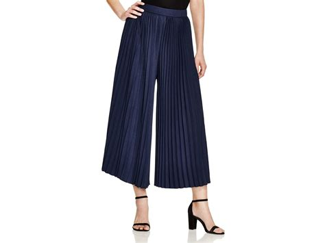pleated culottes lyst scotch soda pleated culottes in blue