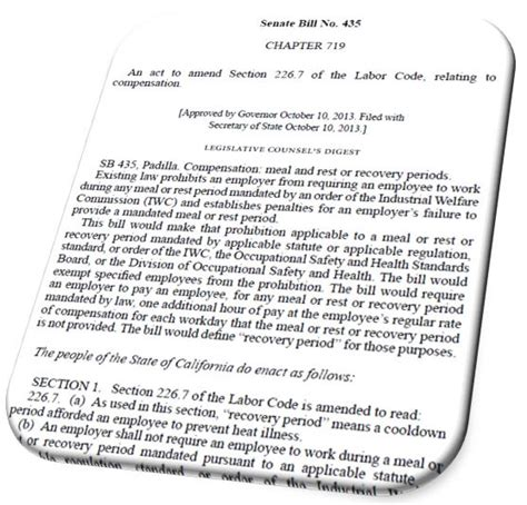 california labor code section 226 7 labor code section 226 7 28 images employment at