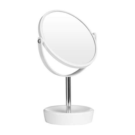 desk mirror with stand premier housewares white chrome swivel dressing