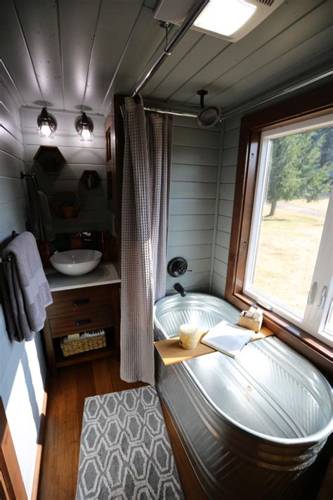 Stock Tank Bathtub 9 Ways To Live Luxuriously In A Tiny Home Hgtv S