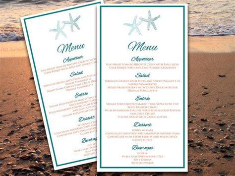 microsoft templates menu cards starfish wedding menu card microsoft word template
