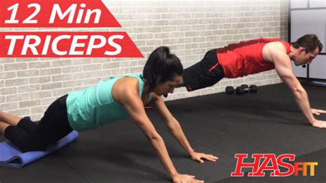 12 minute dumbbell triceps workout hasfit free
