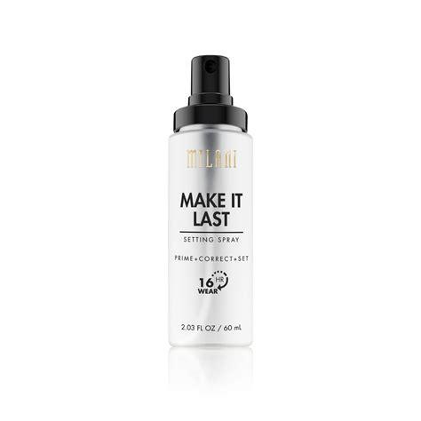 Make It Last make it last setting spray prime correct set milani