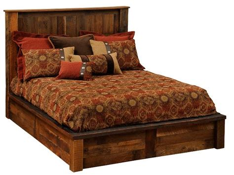 Barnwood Headboards For Sale by Barnwood Post Platform Bed Rustic Beds For Sale Lodge Craft