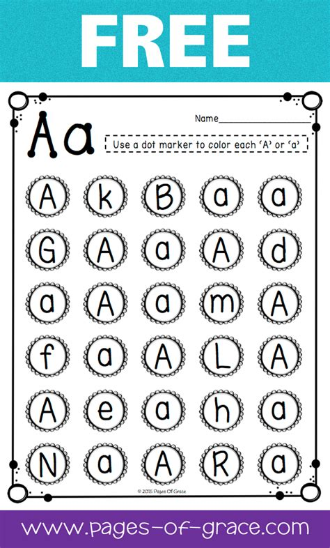 letter recognition pages of grace resources