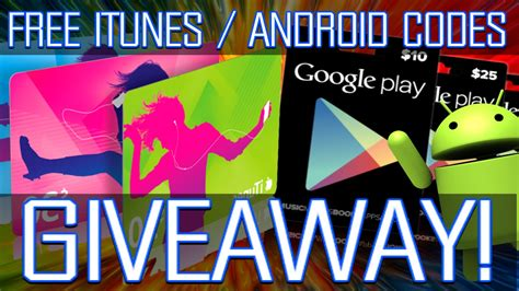 Itunes Giveaway - free itunes cards giveaway youtube
