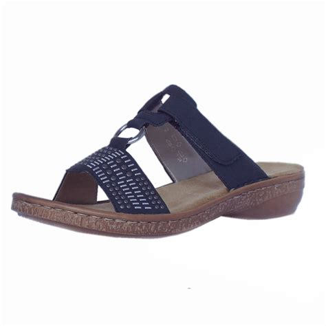 navy sandals rieker sandals trident womens navy faux leather sandal