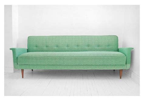 seafoam leather sofa on hold until april 26th vintage sea foam green sofa