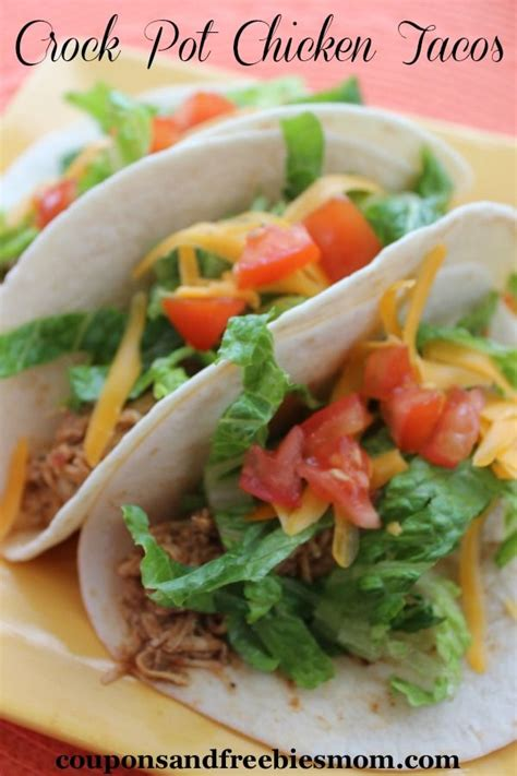crock pot chicken tacos are a fantastic easy meal the