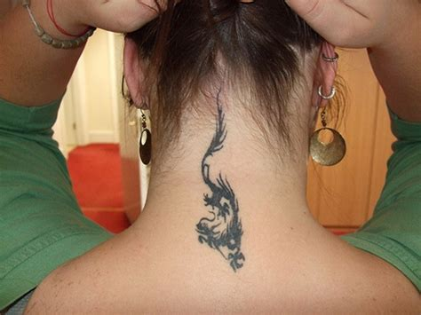 small neck tattoos for women 75 designs for and