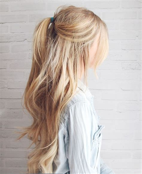 chigon blonde highlights kassinka half up hair tutorial board pinterest