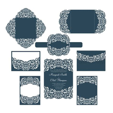 free card templates for cricut set laser cut wedding invitation templates card envelope