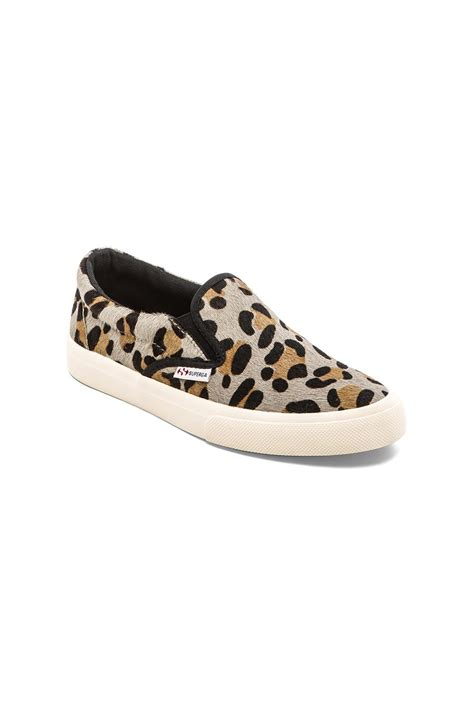 leopard sneakers superga leopard haircalf slip on sneakers leopard in