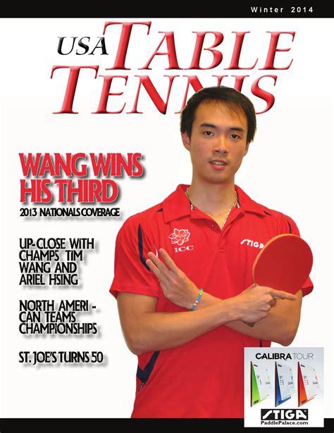 table tennis magazine usa table tennis magazine 2014 winter by tabletennisnow