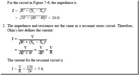 resistor aging equation series circuits resistance inductive reactance and capacitive reactance resonance in series