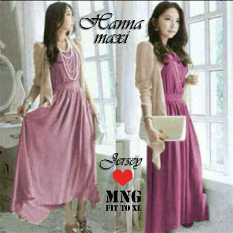 Gamis Blazer Wolfis Batik Katun Silk Dress Maxi Dress maxi plus cardigan g244